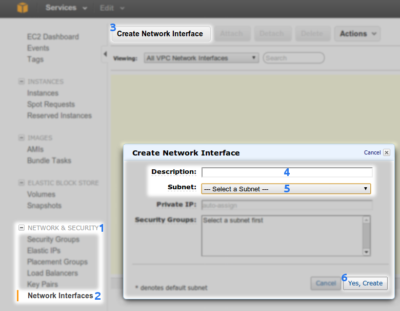 Network Interface creation